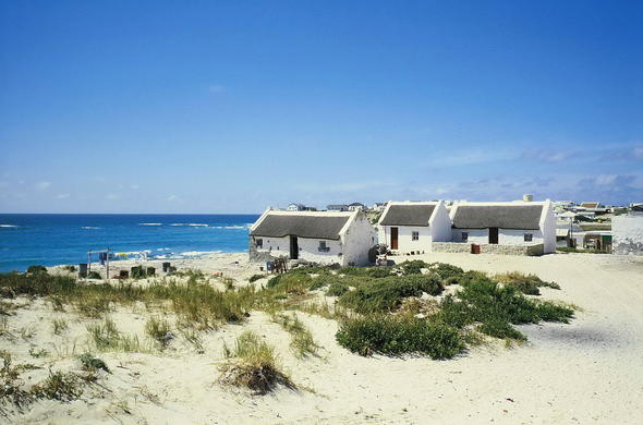 Seaside Cottages in Arniston, Western Cape, South Africa.