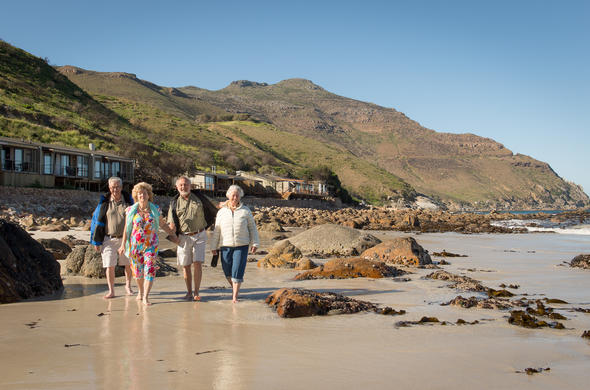 Beach walking at Tintswalo Atlantic.